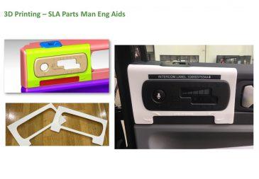 3D Printing SLA Parts Man Eng Aids