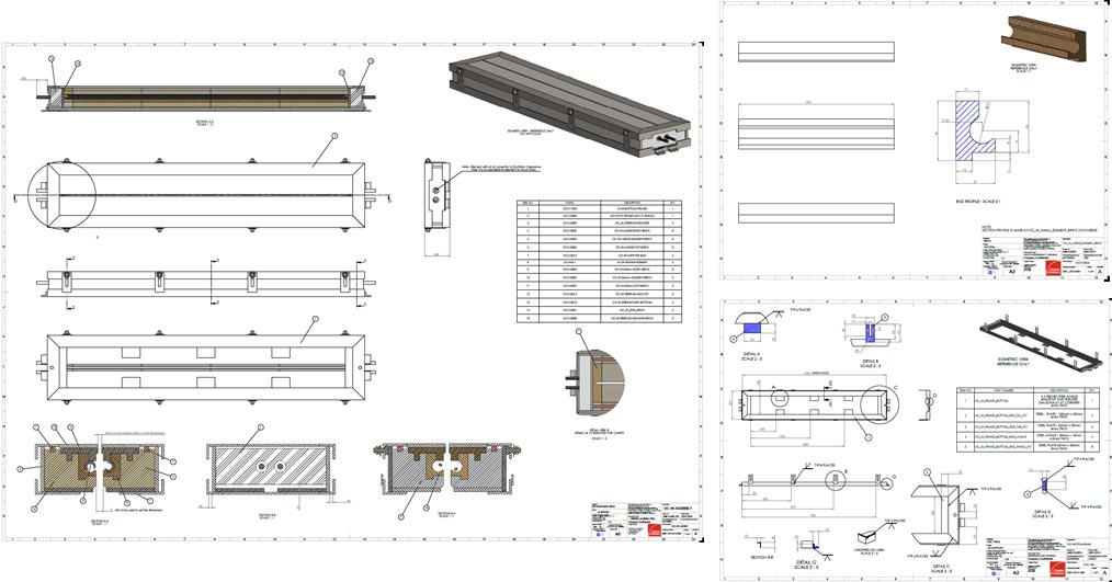 Industrial Heater 2D Drawings
