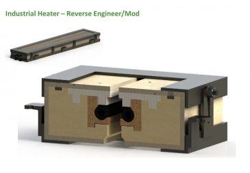 Industrial heater reverse engineer 3D model